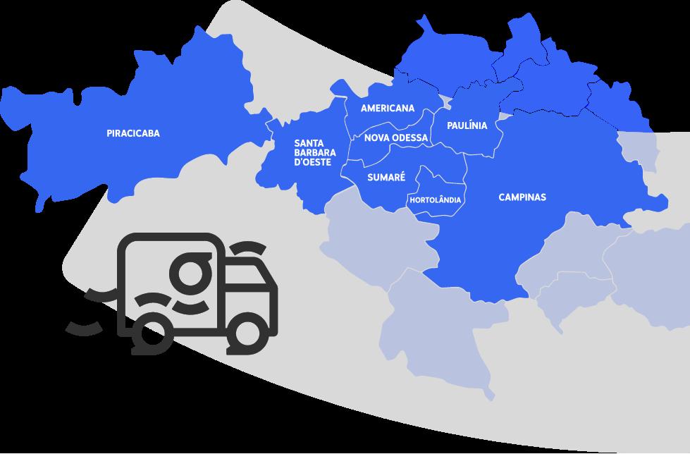 Mapa Região de Campinas
